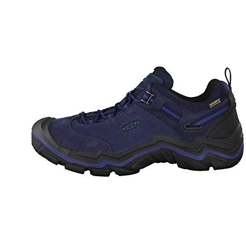 Keen Wanderer Wp, Chaussures de Randonnée Basses Homme Bleu (Dark Sea/night)
