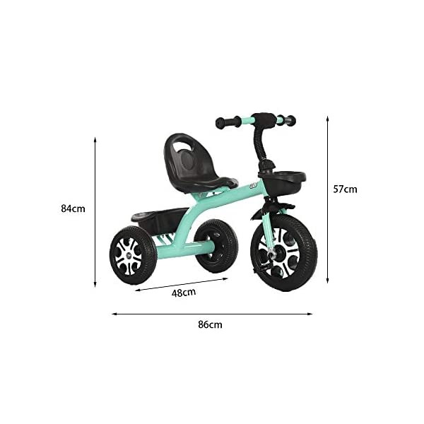LRHD Children's Tricycle, Children's Tricycle, Stroller, Tricycle, Tricycle Pedal Bicycle, Boys and Girls Aged 2-3-4-5 Years Old, Indoor and Outdoor, with Storage Boxes, Boys and Girls Riding Toys LRHD 1. [Perfect Growth Partner]: Tricycle is suitable for children aged 2-6. Let this tricycle grow up with your children. 2. [Adjustable Seat]: The tricycle seat can be adjusted in front and rear gears, so the baby does not need to change cars when growing up, and it is suitable for children of different height stages. 3. [Humanized Design] These cleverly designed tricycles and tricycles have many features your children will like! With one basket at the front and one basket at the back, your children can take their favorite toys along the way! 2