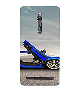 PrintVisa Sports Car Design 3D Hard Polycarbonate Designer Back Case Cover for Asus Zenfone 2
