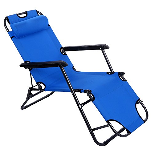 Story@Home Folding Portable Lounge Chair, Blue