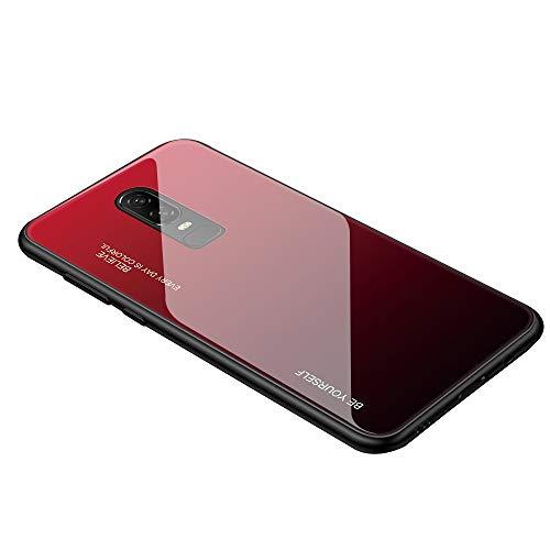 Caler Schutzhülle mit [Rückseitenbeschichtung aus Hartglas] kompatibel mit Xiaomi mi 9T/Mi 9T Pro [Gradient] Rand Abdeckung aus Silikon, TPU, Hybrid, dünn, weich, Kratzfest