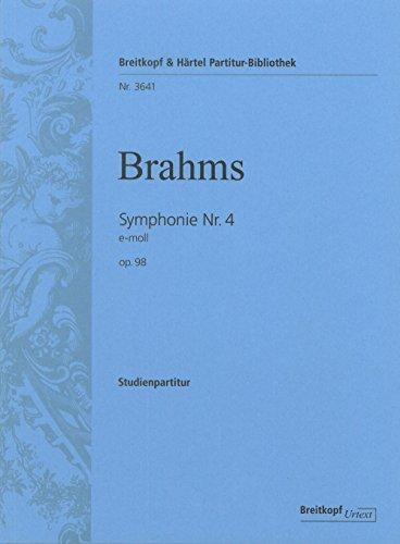 Symphonie Nr. 4 e-moll op. 98 - Breitkopf Urtext (PB 3641)