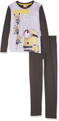 les minions 161943, Conjuntos de Pijama para Niños, Gris/Anthacite, 6 años