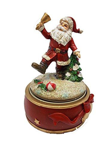 Bada Bing Spieluhr Weihnachten Weihnachtsmann mit Glocke Santa Claus Deko nostalgisch 27550-2