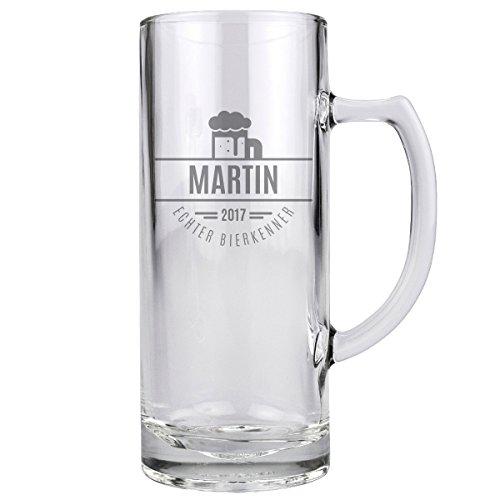 Bierglas Bayern Glas Trinkglas Deko Geschenk mit individueller Gravur 500 ml (Kunststoff-bierkrüge)