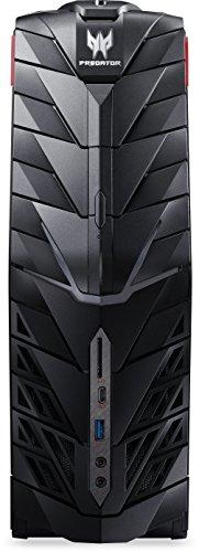 Acer Predator G1-710 Gaming Desktop PC (Intel Core i7-6700, 16GB RAM, 256GB SSD, 3.000GB HDD, GeForce GTX Titan X (12GB VRAM), DVD, Win 10) schwarz/rot