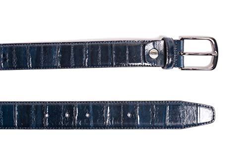 Cinture dautore, cintura in vera pelle di anguilla con fodera in pelle, made in italy