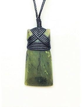 Maori Greenstone / Jade Pounamu Toki Kettenanhänger aus Neuseeland - Large