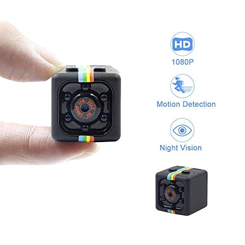 GNB Hidden Camera Mini Spy Camera HD 1080P Nanny Cam mit Motion Detection Video Night Vision Smallest Portable Surveillance Camera Security for Home/Office/Apartment/Car -