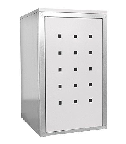 Geiger Mülltonnenbox Metall 120l Zink