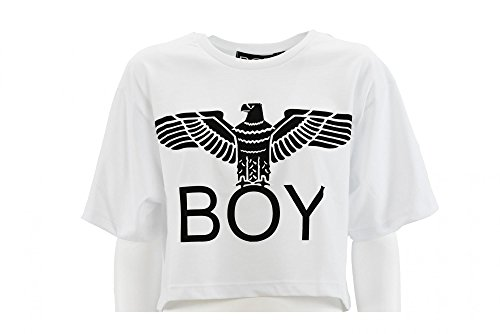 boy-london-de-las-mujeres-camiseta-corta-bl593-blanco-xs-bianco