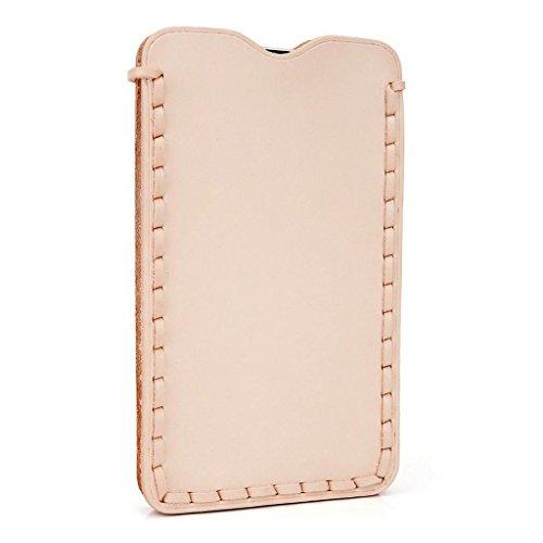 Kroo Étui ultra fin en cuir véritable pour téléphone portable Archos 50b Platinum/50Diamant Marron - peau Marron - peau