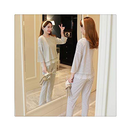 Womens Pajamas Sets Pyjamas Women Girl Pajama Sets Cartoon Sleepwear Pajamas for Women Long-Sleeved Tracksuit baibiantiaowen White L