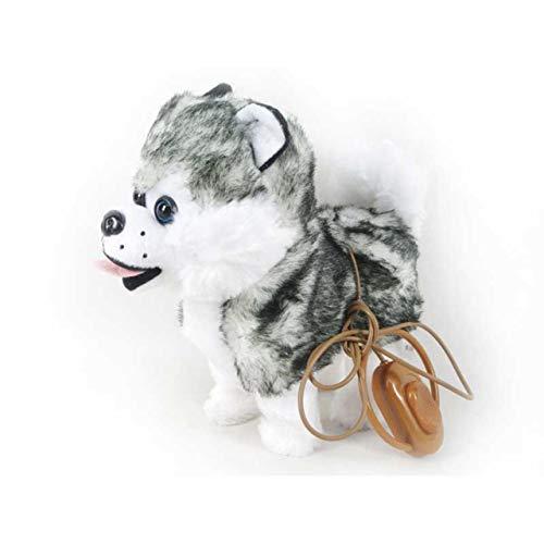 Jasnyfall Elektrische gehende Klammer-Schlittenhunde mit Musik für Kindergeschenk spielt Fahrzeugmodell ()