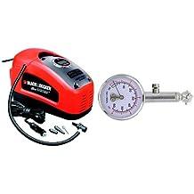 Black and Decker ASI300-QS - compresor 11 bar / 160 psi y Carrera X rx0014Medidor de presión de los neumáticos