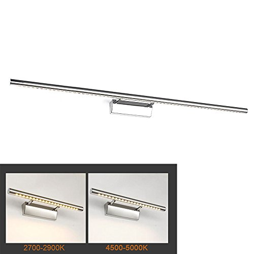 BAODE 15W LED Spiegelleuchte, 105cm, Warmweiß(2900K), 1050lm, ersetzt 45W Leuchtstoffröhre, Badleuchte Schrankleuchte Wandlampe Wandleuchte Spiegellampe mit Erdungsdraht, 3-Jahre Garantie