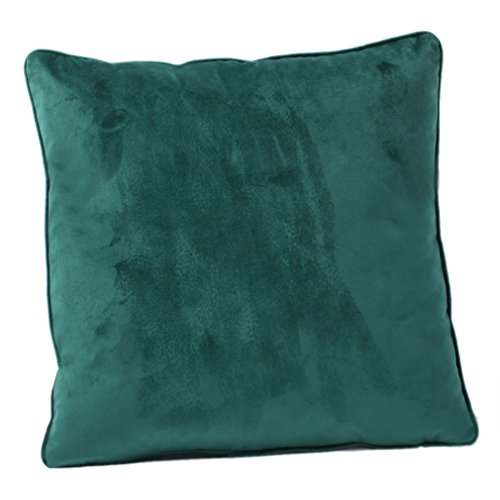 Nunubee Verde scuro Felpa Federe Cuscini per Cuscini Decorativi per ...