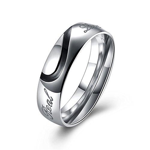Personalisierte Herz-Paare Edelstahl Ring Für Männer (Ideen Halloween Süße Paare Für Für)