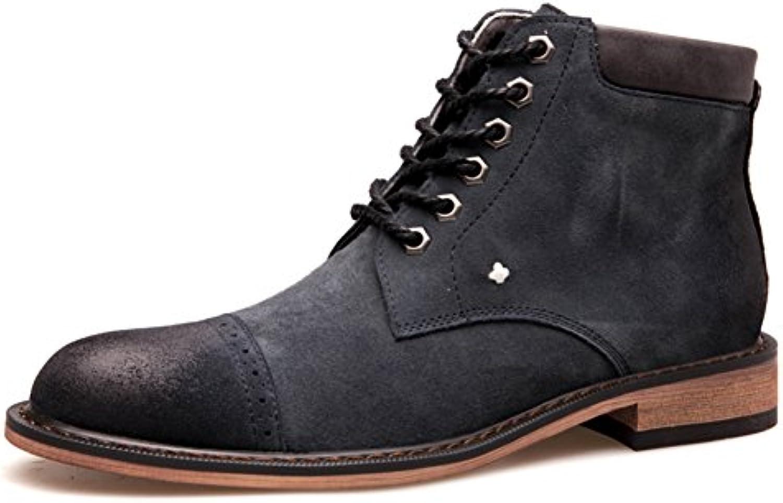 Hombres zapatos vestido escalar montañas otoño aire libre [fondo blando] botas resbalón encendido negro-marrón-Gris...