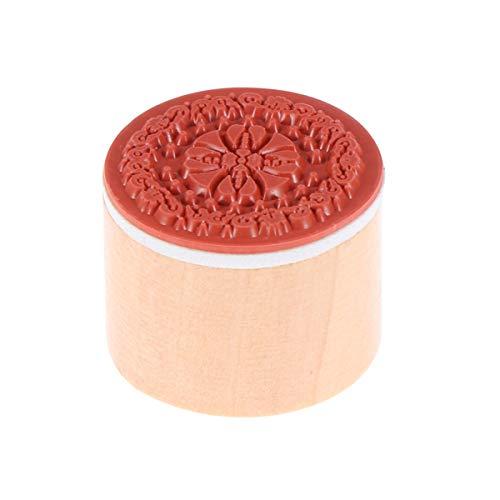SUPVOX anmutige antike Holzstempel begabte dekorative Spitze antike Blumenmuster Kreis hölzerne Siegel Siegel Briefmarken (rs-04)