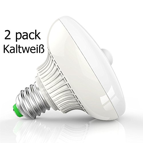 2er E27 Sockel 12W PIR Infrarot Bewegungssensor Lichtsensor LED Birne Energiesparlampe Innenbeleuchtung