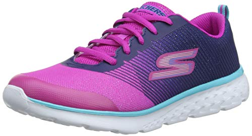 Skechers Go Run 400-shimmer Zooms, Scarpe Running Bambina, Blu (Navy/Pink Nvpk), 38 EU