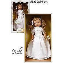 Muñecas Guca - Muñeca María con Vestido de comunión, habladora, ...