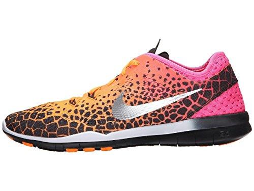 Nike Wmns Nke Free 5,0 TR Fit 5 PRT - Blk/Slvr-Pnk Mtllc PW-Brght ct, (Arancione), 38.5