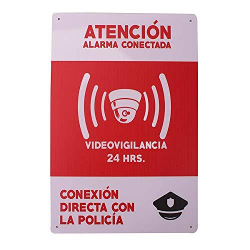 Carteles Alarmas Zonas Videovigilada ✔️Placas VideoVigilancia Seguridad Protegemos TÚ Casa Resistentes ️️ Aquí te lo DEMUESTRO