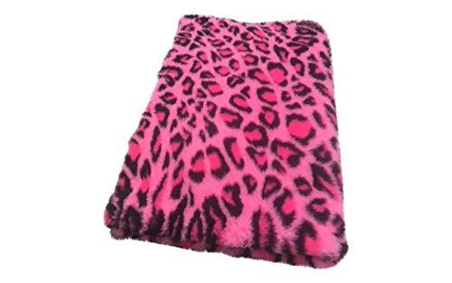 Topmast Vet Bed Hundedecke/Katzendecke rosa mit Motiven, Doppelpack 2x150/100cm Schlafdecke,