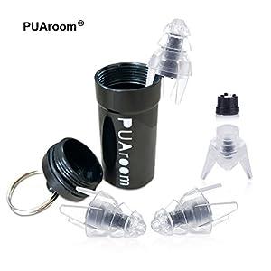 PUAroom SleepingPro Schlaf Ohrstöpsel, 2 Paar Silikon-Ohrstöpsel. Rauschunterdrückend gegen Schnarchen mit praktischem Behälter, wiederverwendbar und waschbar
