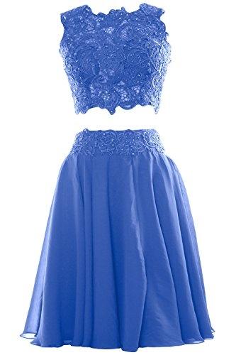 MACloth - Robe - Ajourée - Sans Manche - Femme Bleu