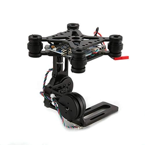 Laurelmartina HAKRC 2 Ejes CNC Metal Brushless BGC2.2 PTZ Panel de Control Estabilizador de cardán para cámara de Drones RC Gopro3 dji Phantom