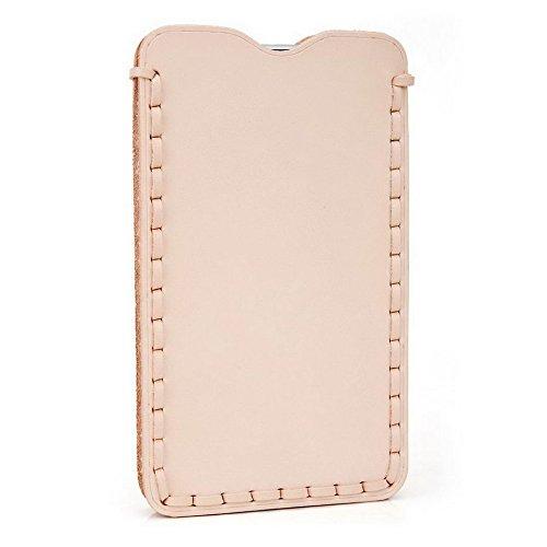 Kroo Étui ultra fin en cuir véritable pour téléphone portable Yezz Billy 4.7 Marron - peau Marron - peau