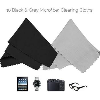 (pack de 15) Ecoiou chiffons double face en microfibre nettoyage tissu doux grand teint, pour téléphone cellulaire, lunettes, lentilles, écrans LCD d'ordinateurs portables et les surfaces délicates (1