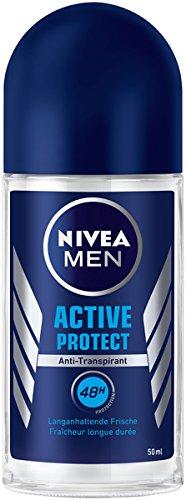 NIVEA MEN Active Protect Deo Roll-On im 6er Pack (6 x 50 ml), Antitranspirant Roller für ein frisches Hautgefühl, Deodorant mit 48h Schutz