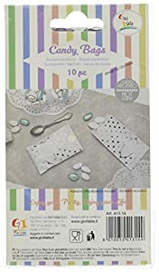 Givi Italia 41314 - Bolsas de papel (10 unidades, 8 x 14 cm), diseño de lunares, color plateado