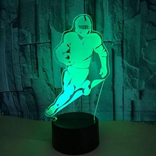 sb Tischlampe Touch Fernbedienung Bunte 3d Nachtlampe Kinderzimmer Dekoration 3D Nacht Lightusb wiederaufladbare Athleten Sport Guy Jungen Mädchen Präsentieren Dekor für Büro Studi ()