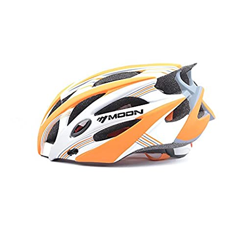 Ultra Light Weight -Profession Bike Helmet, Adjustable Sport Cycling Helmet Bike Bicycle Helmets For Road & Mountain Biking,Motorcycle For Adult Men & Women,Youth - Racing,Safety Protection,carbon Fiber ( Color : Gray orange L