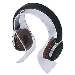 niceEshop(TM Kopfhörer Ohrhörer Standplatz Anzeigen Halter Aufhänger (Transparent)
