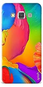 Qrioh Printed Designer Back Case Cover for Samsung A3 - Flower Painting