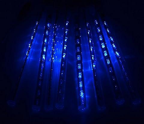 Groten 20CM 80 LED 8 Rohre Meteor Dusche Regen Lichterkette Weihnachten Leuchte Blau C5