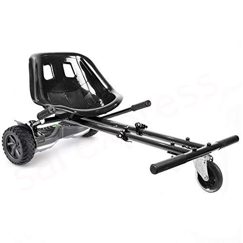 enyaa 2018 Modell, verstellbar, Hoverkart für 16,5/20,3/25,4 cm Hoverboard-Zubehör, Smart Electric Scooter Go Karting Kart für Erwachsene und Kinder, Schwarz