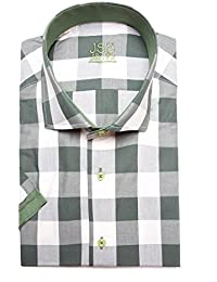 Jenson Samuel Shirts De Aguja para Hombre Hawiian Italiana de Primera  Calidad con Casual Manga Corta c4ab5f67fbc99