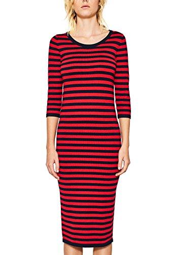 ESPRIT Women's 097ee1e003 Dress, Multicoloured (Red 2 631), Small