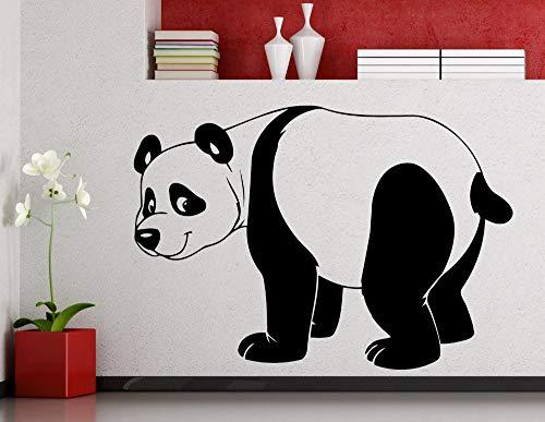 ilhouette Kunst Wandaufkleber Home Kinder Schlafzimmer Niedlichen Dekor Vinyl Wandmalereien Walking Muster Große Panda Wm 75x105 cm ()