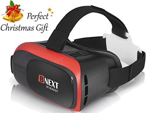 VR-Brillen Virtual-Reality-Brille für iPhone & Android - Spielen Sie die besten Handyspiele, 3D & 360 Filme ab mit weicher neuer Brille plus speziell einstellbarem Augenpflege System