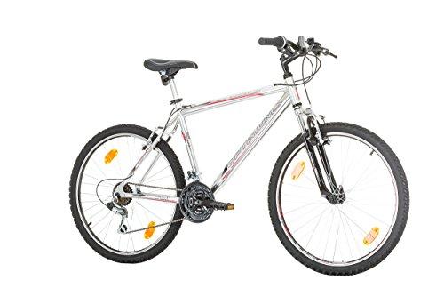26 pollici CoollooK Optimum 26 Man, alloy Uomo Bicicletta Mountain Bike alluminio cornice RH 48 cm, Shimano 21 Gang Grigio Metallizzato