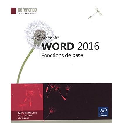 Word 2016 - Fonctions de base