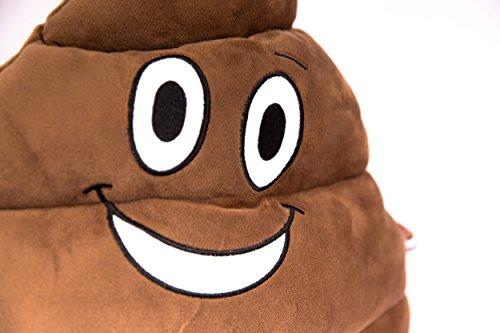 Haufi® rockt! Emoji Smiley Poop Kissen – kuscheliges Kopfkissen in Kackhaufen-Form, der Trend des Jahres! - 2